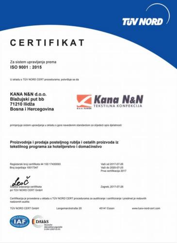 Certifikat ISO 9001
